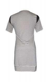 Блуза за кърмачки в комбинация с райе - модел 0856