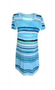Блуза за кърмачки 0856 в синьо райе