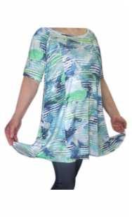 Блуза голям размер с къс ръкав 08431