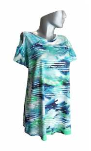 Блуза за макси дами с къс ръкав 0823