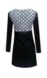 Блуза за едри жени в комбинация - модел 08202