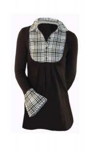 Блуза за едри жени в комбинация - модел 08291