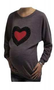Блуза за макси дами с апликация сърце - модел 0891