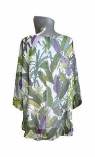 Блуза за едри жени 0850 от шифон
