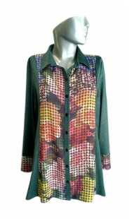 Блуза за макси дами в комбинация 08290