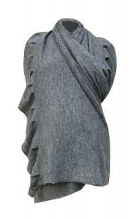 Пончо - шал за макси дами 093 от плетиво