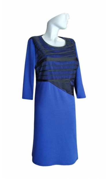 Официална рокля за едри жени 050 с ръкав