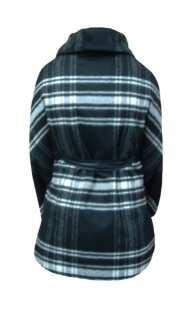 Пелерина за макси дами в сиво-черно - модел 092