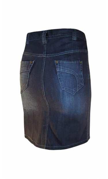 Дънкoва пола за макси дами - модел 061