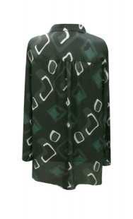 Риза за макси дами в зелено - модел 08307