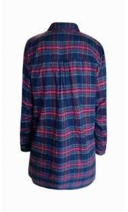Риза за макси дами в синьо-червено каре - модел 08307