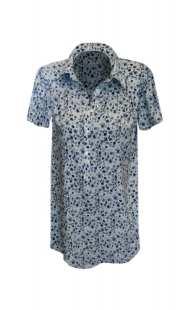 Риза за макси дами с къс ръкав 08307