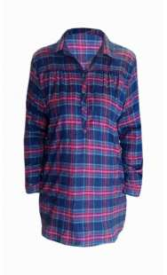 Риза за макси дами от каре 08307