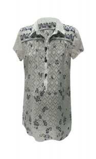 Риза за макси дами бродиран памук 08307