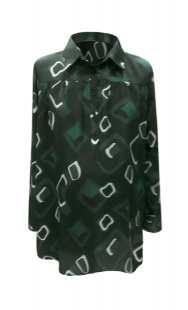 Риза за макси дами в зелено 08307