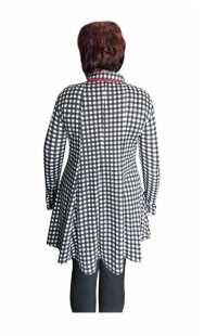 Дамска макси риза каре 08309 фрак