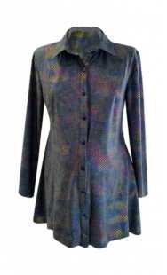 Риза за макси дами фрак син хамелион 08309
