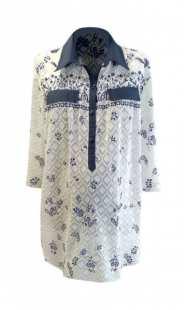 Риза за макси дами бродиран памук 083071