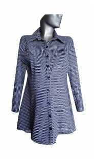 Риза за макси дами фрак от пепит 08309