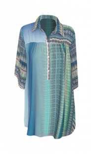 Риза за макси дами в сини нюанси 083071