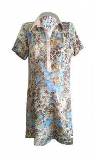 Риза за макси дами с къс ръкав 083071