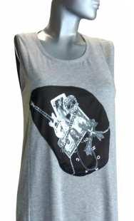 Дамска макси рокля с апликация 0524