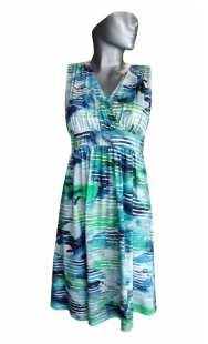 Дамска рокля голям размер 05380 щампа