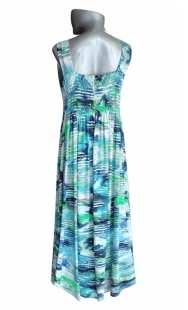 Дълга дамска рокля голям размер 0513