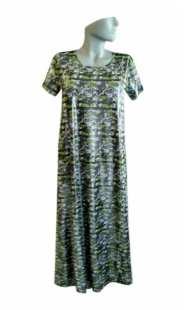 Дълга макси рокля с къс ръкав 0524