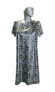 Макси рокля с къс ръкав 0524 трико