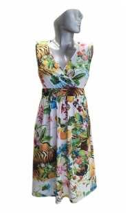 Дамска рокля голям размер щампа 0536