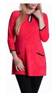 Едноцветна блуза за бременни - модел 08256