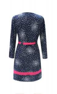 Блуза за бременни в синьо на точки - модел 086