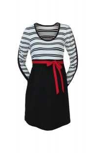 Блуза за бременни в комбинация с райе - модел 086