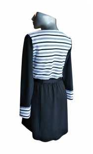 Блуза за бременни 0851 съчетание с райе