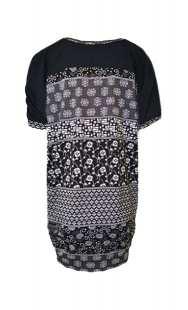 Блузон за бременни с къс ръкав в комбинация - модел 029