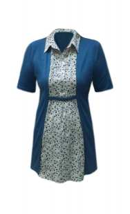 Вградена блуза за бременни с къс ръкав - модел 08292