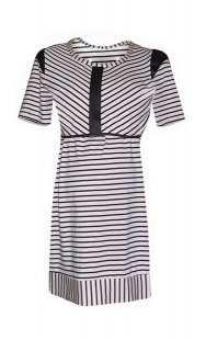 Блуза за бременни с къс ръкав в комбинация с райе - модел 0856