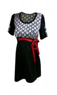 Блуза за бременни с къс ръкав в комбинация - модел 086