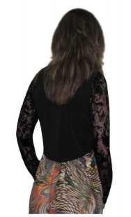 Болеро за бременни в черно с дантела - модел 0892