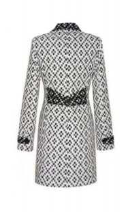 Палто за бременни 094 в черно и бяло