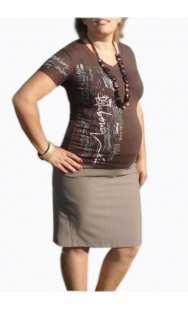 Пола за бременни във бежово - модел 0672