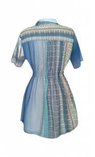 Риза за бременни в сини нюанси  08326