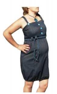 Дънков сукман за бременни в синьо - модел 043