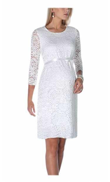 Сватбена рокля за бременни дантела 0551