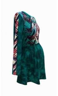 Туника за бременни в зелено - модел 0826