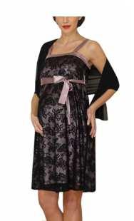 Официална рокля за бременни 0518 дантела