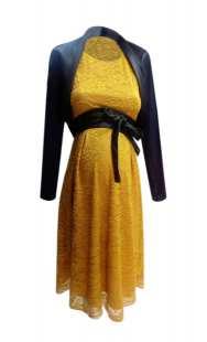 Официална рокля за бременни от дантела - модел 055