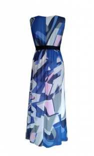 Дълга рокля за бременни от шифон - модел 0553