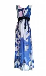 Дълга рокля за бременни 0553 шифон